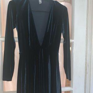 American apparel dark green dress size M